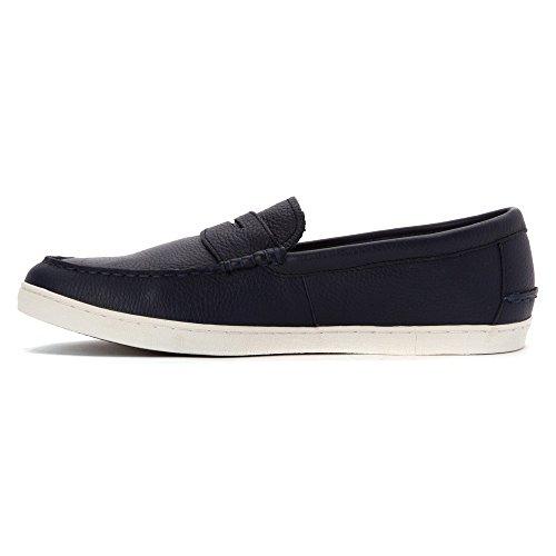 Cole Haan Mens Nypa Weeke Läder Öre Loafer Peacoat Läder / Vit
