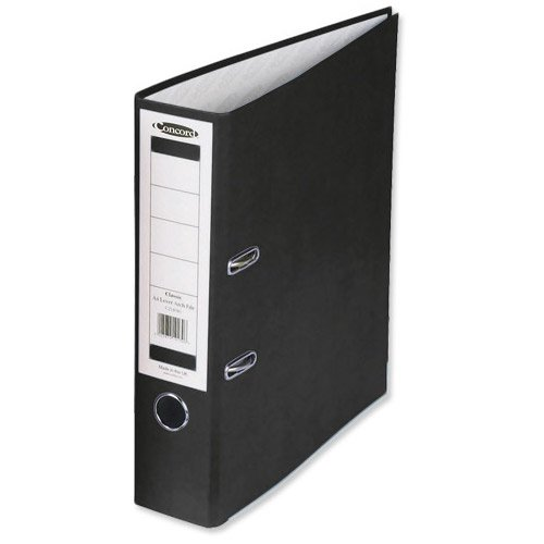 Concord Classic Lever Arch File with 5-Part Dividers 70mm Spine A4 Black Ref C214046 [Pack of 10]