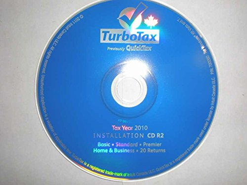 Turbotax Basic 2010 Tax Year for CANADA - Tax Preparation Software - Do Your Taxes Yourself The Cheap (Tax Software Canada)