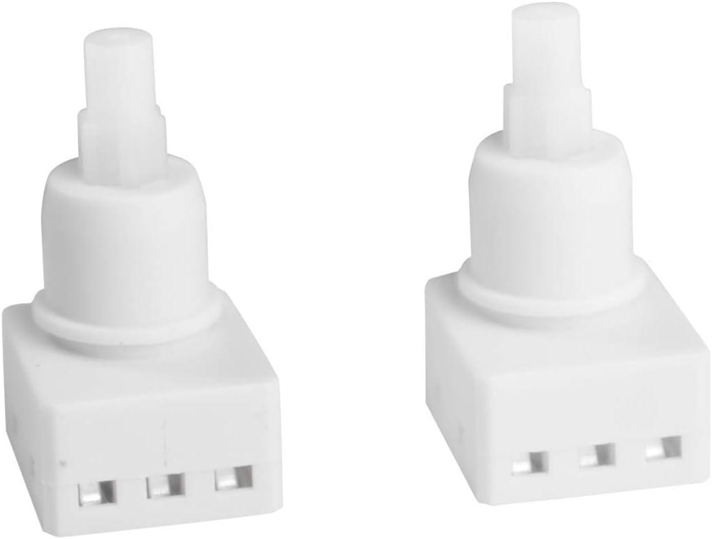 Pairs Dome Lamp Switch for Odyssey Accord Pilot Ridgeline Dodge Ram 1500 Map Light Switch Replace 34404-SDA-A21 34404-SDA-A22D3 Switch+Bulbs Bonus Light Bulbs 924-798