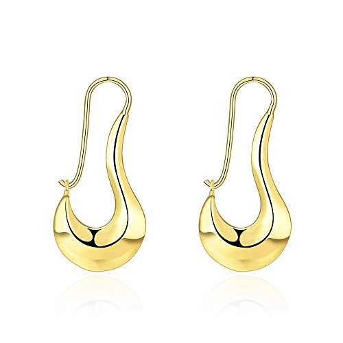 14k Gold Plated Filigree (14k Gold Plated Dangle Earrings For Womens Wedding)