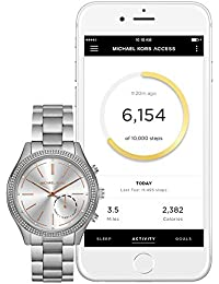 Access Hybrid Silver Slim Runway Smartwatch MKT4004