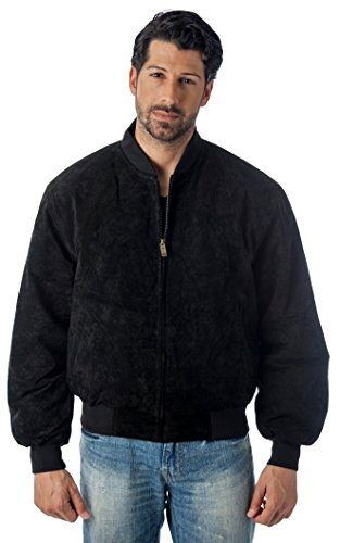(REED BASEBALL SUEDE LEATHER JACKET EST. 1950 (IMPORTED) (XLT, BLACK))