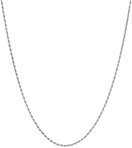 """Sterling Silver 1.7mm Twisted Magic Chain Necklace 925 Italy 16/"""" 20/"""" NEW 18/"""""""