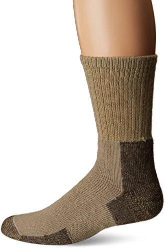 (Thorlos Unisex KX Thick Padded Hiking Crew Sock, Khaki, Large)