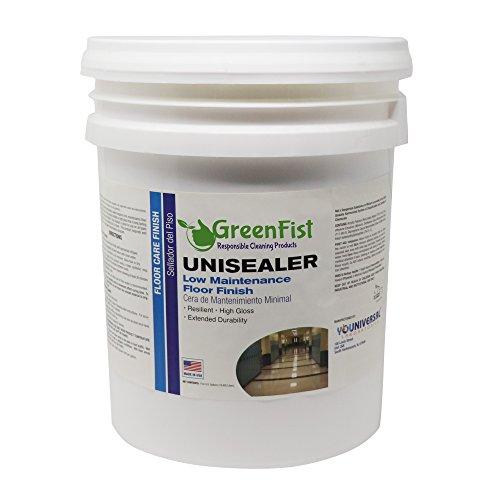 GreenFist Unisealer Low Maintenance High Gloss Floor Finish, 5 Gallon Pail