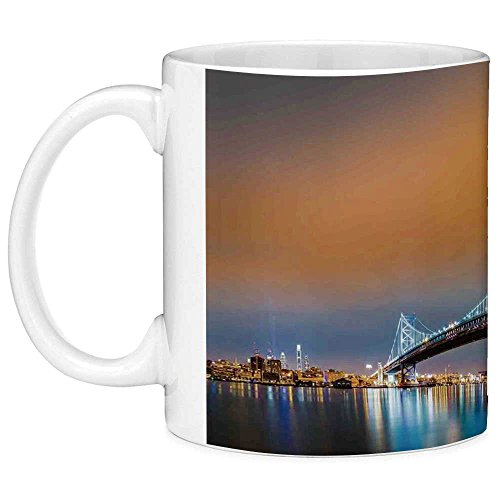 Best deals Funny Coffee Mug with Quote Apartment Decor Ounces Ben Franklin Bridge and