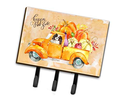 Caroline's Treasures CK2652TH68 Fall Harvest Tricolor Cavalier Spaniel Leash or Key Holder, Triple, Multicolor