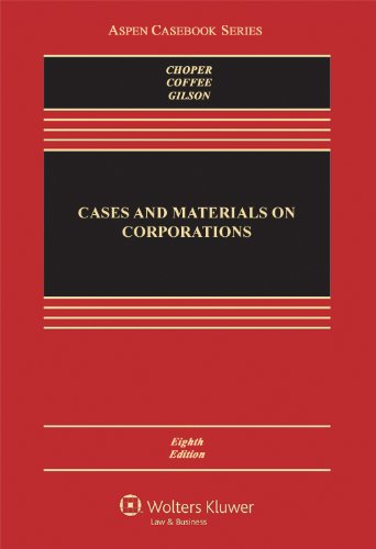 Pdf Law Cases and Materials on Corporations, 8th Edition