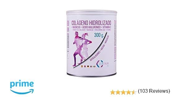 Colágeno hidrolizado en polvo con magnesio, ácido hialurónico y vitamina C – Salud en huesos y articulaciones – 300 gramos