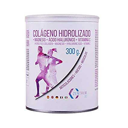 Colágeno hidrolizado en polvo con magnesio, ácido hialurónico y vitamina C – Salud en huesos