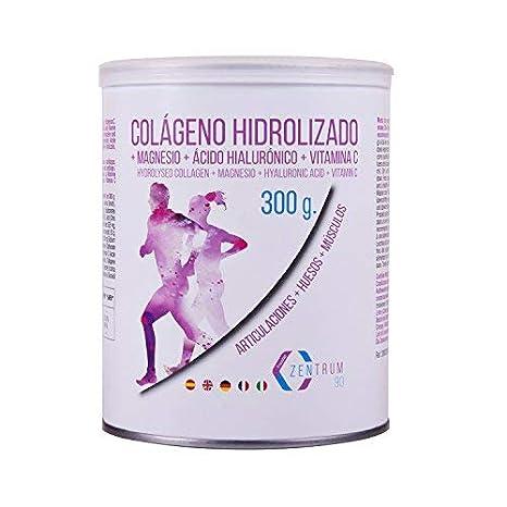 Colágeno hidrolizado en polvo con magnesio, ácido hialurónico y vitamina C - Salud en huesos y articulaciones - 300 gramos: Amazon.es: Salud y cuidado ...