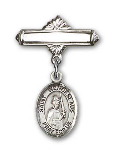 Icecarats Créatrice De Bijoux En Argent Sterling St. Charme Venceslas Broche De Badge 1 X 5/8