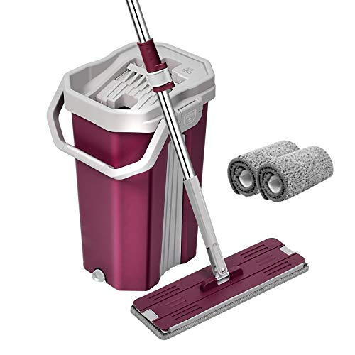 U.P.C. 59.8'' Hands-Free Squeeze Microfiber Flat Spin Mop System $20.22 Coupon