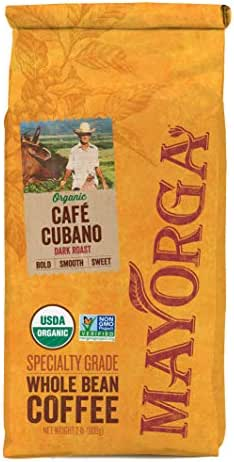 Mayorga Organics Cafe Cubano Dark Roast, 2 Pound, Whole Bean Coffee, Direct Trade, 100% USDA Organic Certified, Non-GMO, Kosher