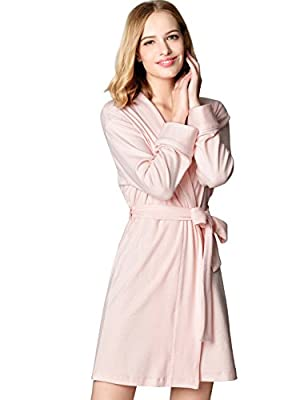 Mamamiya Women's Soft Cotton Robe Kimono Bathrobe Sleeve Loungewear Sleepwear Cloth Robe