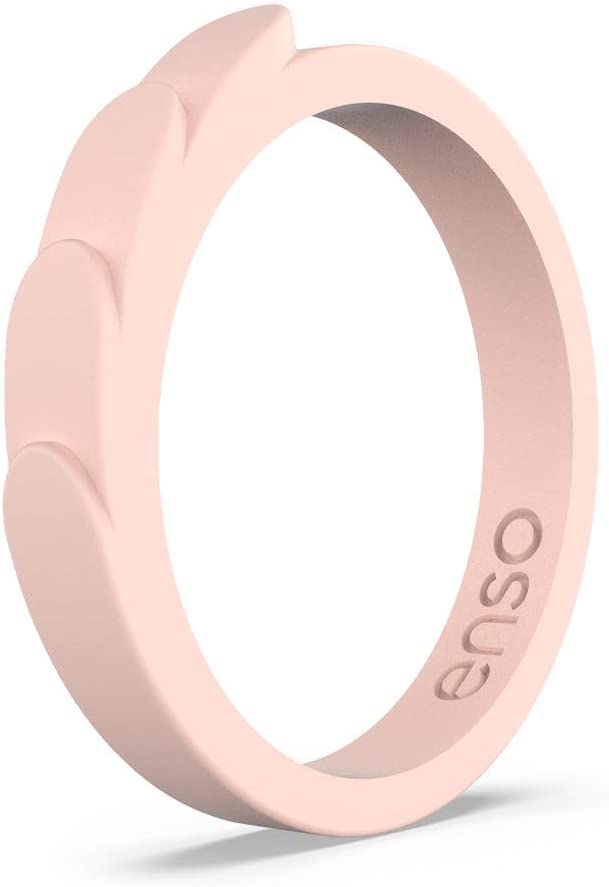 Enso Rings Feather Stackable Silicone Ring Breathable Comfortable and Safe Lifetime Quality Guarantee The Premium Fashion Forward Silicone Ring