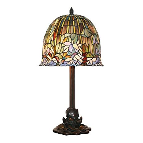 Amazon tiffany lotus flower lamp 705 cut glass pieces bronze tiffany lotus flower lamp 705 cut glass pieces bronze base aloadofball Choice Image