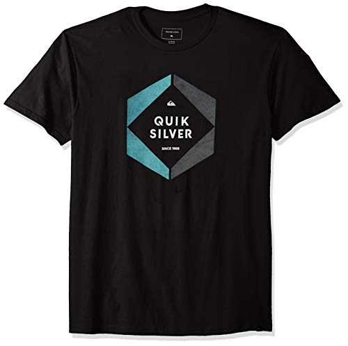 Quiksilver Men's Hexa Logo TEE, Black, L