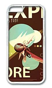 linJUN FENGApple Iphone 6 Case,WENJORS Adorable Vintage Space Poster Series I Explore Space Its Fun Hard Case Protective Shell Cell Phone Cover For Apple Iphone 6 (4.7 Inch) - PC Transparent