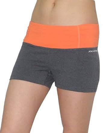 Jockey Womens Athletic Fitness Bike / Training / Yoga Shorts S Grey
