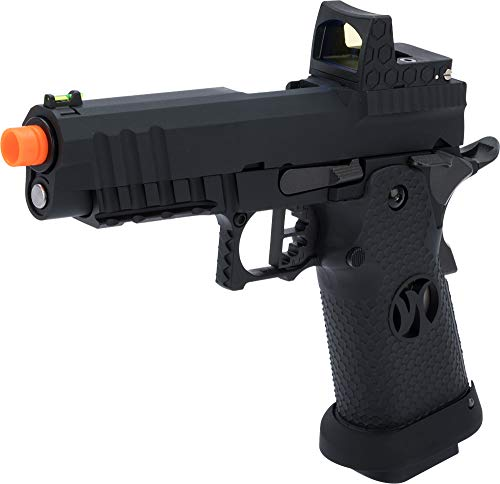 Evike AW Custom Competitor Hi-CAPA Gas Blowback Airsoft Pistol (Package: Match King Compact/Black)