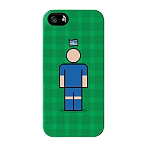 Greece 2 Full Wrap High Quality 3D Printed Case for iPhone 5 / 5s by Blunt Football International + FREE Crystal Clear Screen Protector