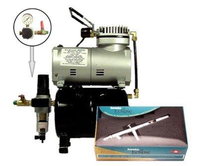 Iwata Airbrush Kit >> Amazon Com Iwata Hp Bcs Ecl 2000 Airbrush Kit W Tank Compressor