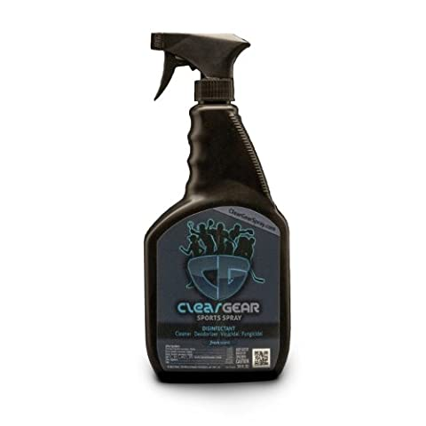 Clear Gear Sports Spray 24 Ounce Bottle - Disinfect, Clean and Deodorize Sports and Protective Gear and Eliminate the (Special Needs Exercise)