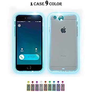 Amazon.com: Yacn iPhone 7 Plus Phone Cases led Logo Light ...