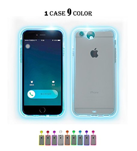Winhoo iPhone 6/6S Case, 9 color in 1 LED Flash Case ,Can Change 9 Different Colors Incoming Call LED Flash Light Alerts Case Cover Skin For Apple iPhone (iPhone 6/6S 4.7 inch)