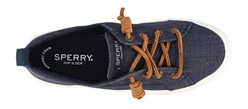 Sperry Navy Creeper Sider Crest Linen Vibe Scratch Shoes Top Womens zfz6rH