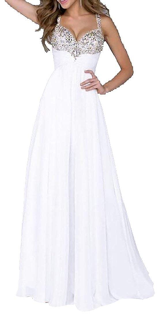 Alion Womens Sleeveless Sequin Push up V-Neck Sleeveless Lace Wedding Dress Evening Dress