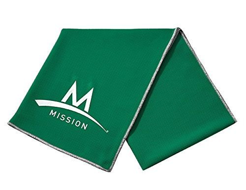 Mission Enduracool Techknit Cooling Towel, Green, (Activate Spring)