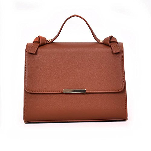Con Estilo De Tipo Brown Simple Inclinado GWQGZ Marrón Nuevo Y Bolso Bolso T8W7Fc