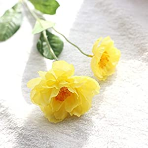 ShineBear Poppy Rosemary Simulation Flower Wedding Holiday Flower Hand Holding Plum Flower Home Decoration - (Color: Yellow) 57