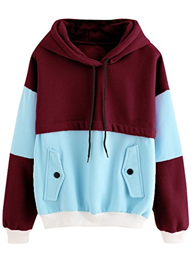 SweatyRocks Womens Colorblock Pullover Sweatshirt product image