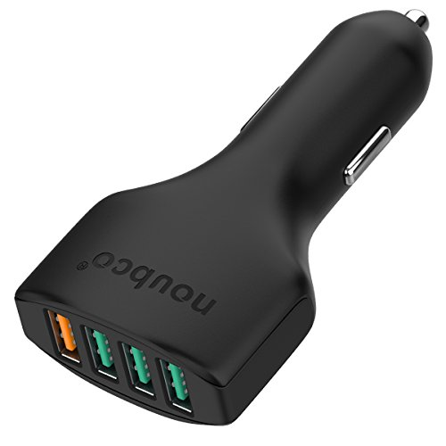 Quick Charge 3.0 54W 4-Port USB Car Charger for Samsung Galaxy Note 8/S9/S9+/S8/S8+, iPhone X/8/7/6 Plus, iPad Pro/Air 2/mini and More - Black