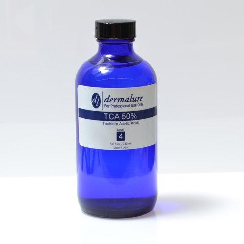 Trichloro Acetic Acid - TCA Peel 50% 8oz. 240ml Pro Size (Level 4 pH 0.6) by Dermalure