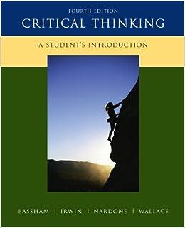 critical thinking bassham irwin nardone wallace