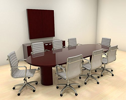 Modern Racetrack 10' Feet Conference Table, CH-JAD-C6