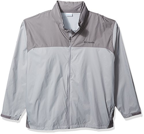 Columbia Men's Big and Tall Glennaker Lake Rain Jacket, Grey, Boulder, 5X