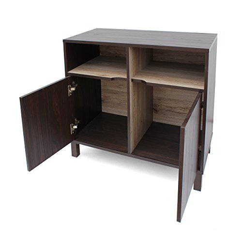 Provence 2-Shelf Walnut Finished Faux Wood Cabinet with Sanremo Oak Interior by Great Deal Furniture (Image #6)