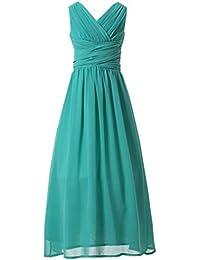 Juniors Long Bridesmaid Dress Party Dresses Flower Girl's Dress