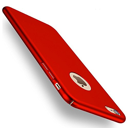 iphone 7 Case, ACMBO(TM) Ultrathin Micro Matte [SKIN TOUCH FEEL] Metallic Texture Anti-Fingerprints Non-slip No-fade Shockproof PC Phone Case Cover For iPhone7 4.7 inch, Red