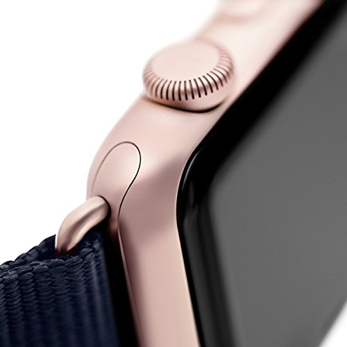 Roobaya | Premium Sauvage Leather Apple Watch Band in Purple | Includes Adapters matching the Color of the Apple Watch, Case Color:Rose Gold Aluminum, Size:42 mm by Roobaya (Image #6)