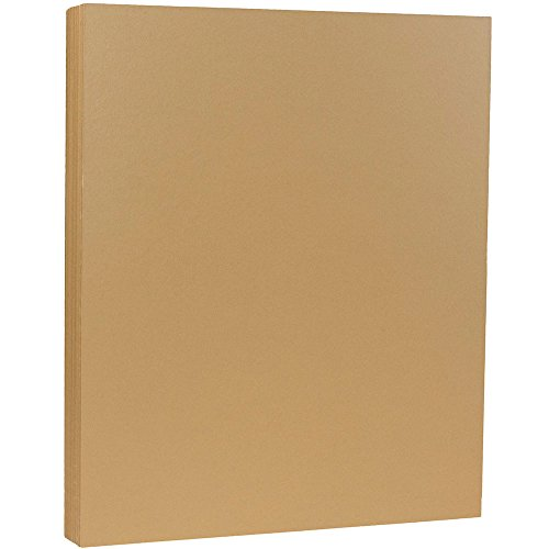 JAM PAPER Matte 80lb Cardstock - 8.5 x 11 Letter Coverstock - Tan / Light Brown - 50 ()