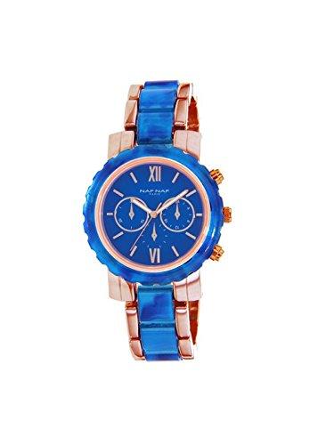 Reloj NAF NAF D IPRG hubbsi Eyes contador IPRG Plastic Blue Azul - n11004 - 808: Amazon.es: Relojes
