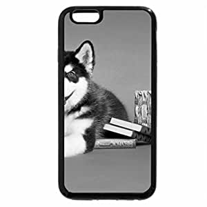 iPhone 6S Case, iPhone 6 Case (Black & White) - Little Husky