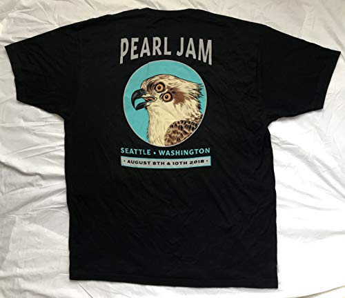 Pearl Jam t shirt seattle the home shows medium 2018 tour osprey bird logo pj new … by Inkster Sports